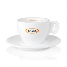 Šálek Bristot cappuccino s podšálkem