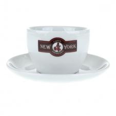 Šálek New York Caffé cappuccino s podšálkem
