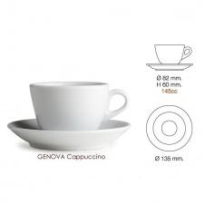 Šálek Nuova point Genova - cappuccino